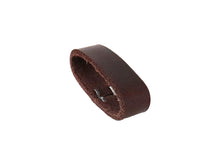 Load image into Gallery viewer, Matte Burgundy West Tan Buffalo Leather Belt Blank With Keeper