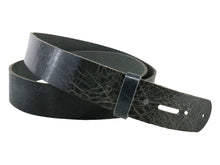 Load image into Gallery viewer, Denim Vintage Glazed Buffalo Leather Belt Blank With Keeper