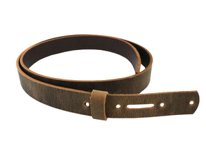 Stonestreet Leather Brown Crazy horse buffalo leather strip with matching keeper.