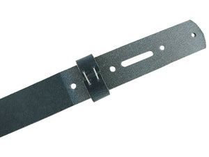 Navy Crazy Horse Buffalo Leather Belt Blank With Keeper