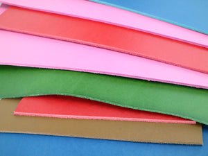 Two Pounds Colorful Veg Tan Leather Scrap