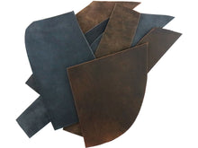 Load image into Gallery viewer, Two Pounds of Crazy Horse Buffalo Leather Scrap