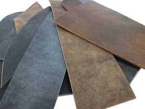Two Pounds of Crazy Horse Buffalo Leather Scrap