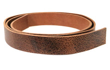 "Load image into Gallery viewer, Vintage Glazed Tan Buffalo Leather Strip, 48""-60"" in Length, Tan"