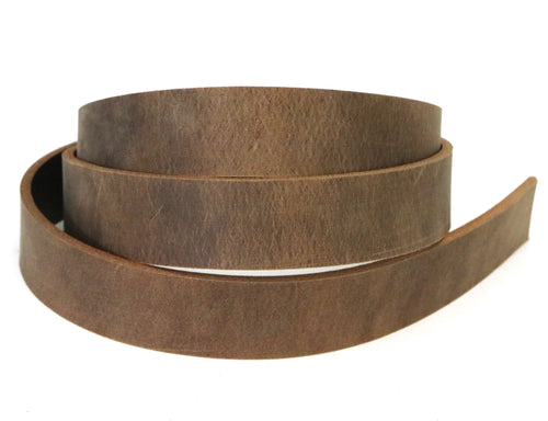 Brown crazy horse style buffalo leather strip. 48