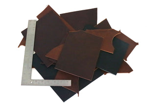 Two Pounds of West Tan Buffalo Leather Scrap