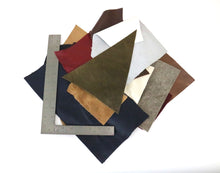 Load image into Gallery viewer, Stonestreet earth toned leather chrome tanned upholstery leather scrap bag