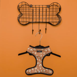 Khaki Leopard Reversible Harness, Lead & Collar Bundle