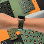 Load image into Gallery viewer, Khaki Leopard Apple Watch Strap by Coconut Lane