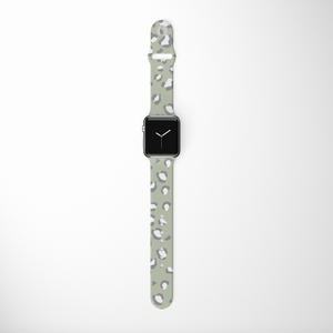 Sage Leopard Apple Watch Strap by Coconut Lane