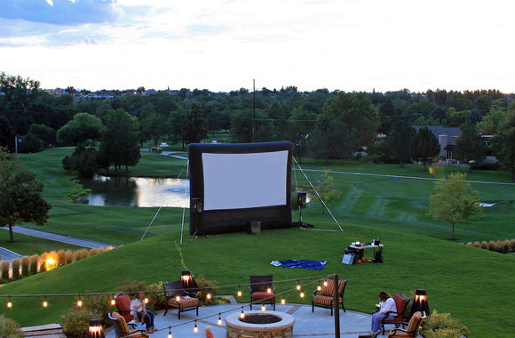 Drive in movie outdoor cinema inflatable movie screen backyard movie