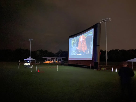 Drive in movie outdoor cinema inflatable screen backyard movie