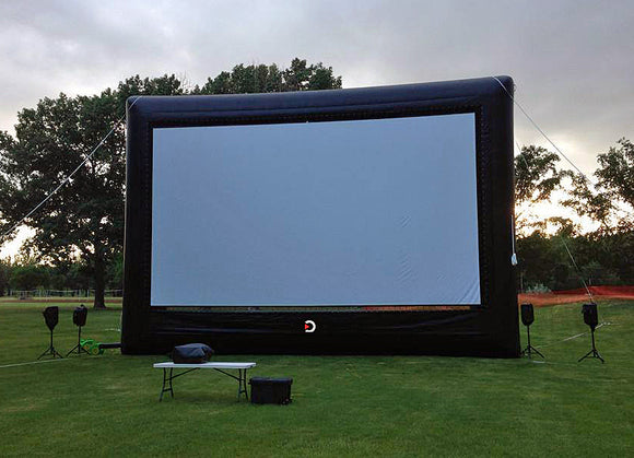 Drive in movie outdoor cinema inflatable screen