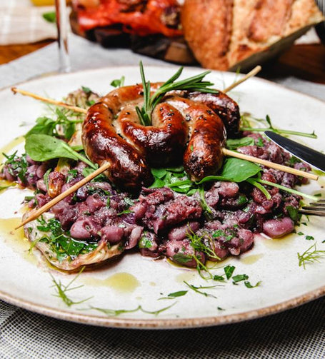 Sausage Swirls with Cannellini Bean Cassoulet - Humble Meal