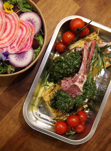 Lamb Rack with Herb Crust - Humble Meal