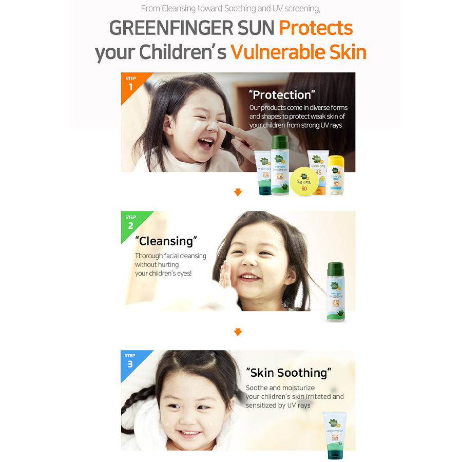 Babies Shop Greenfinger sun baby cream 120ml Korean Products