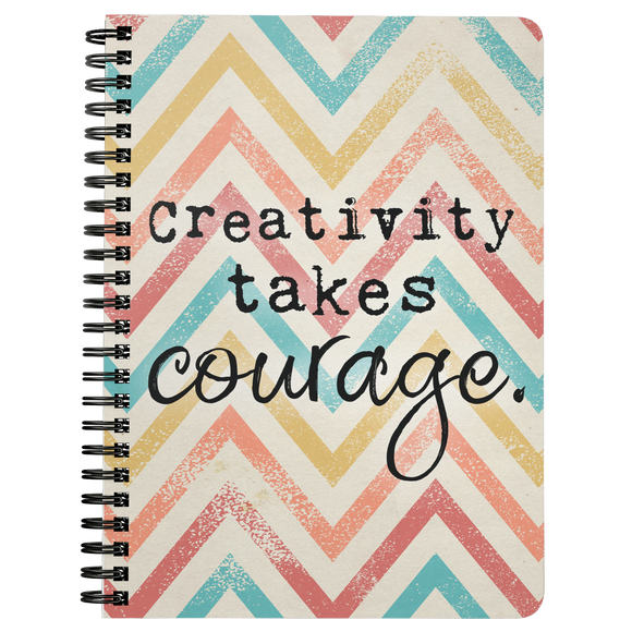 Creativity Takes Courage Chevron Notebook