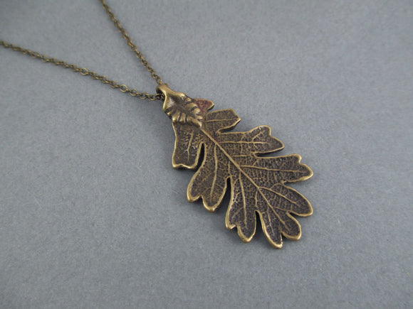 Bronze Oak Leaf Necklace