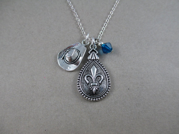 Three Musketeers Fleur-de-lis Charm Necklace