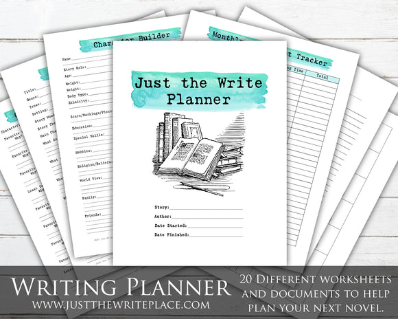 Watercolor Writing Planner Digital Printable