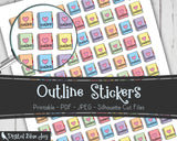 Outline Writer Printable Planner Stickers
