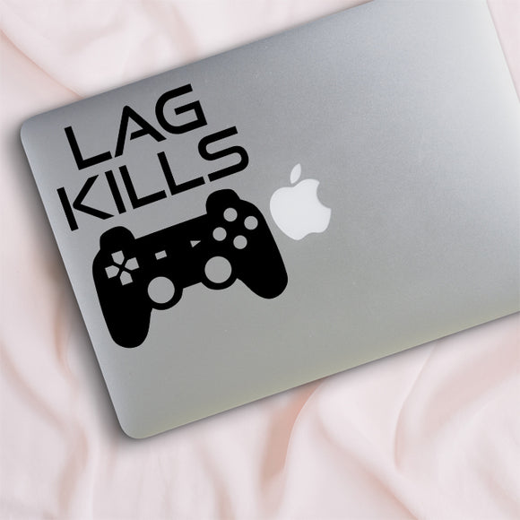 Lag Kills Controller Gamer Decal