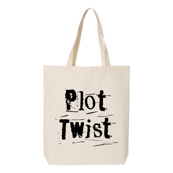 Plot Twist Canvas Tote Bag