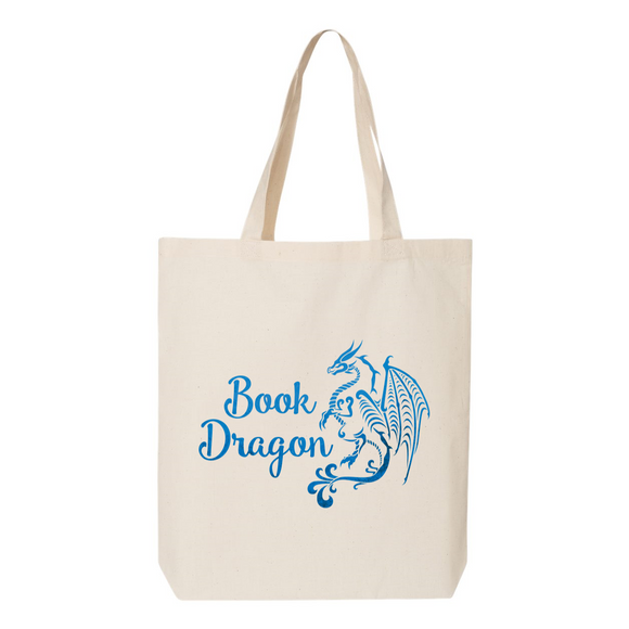 Blue Book Dragon Canvas Tote Bag