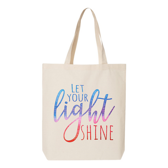 Let Your Light Shine Canvas Tote Bag
