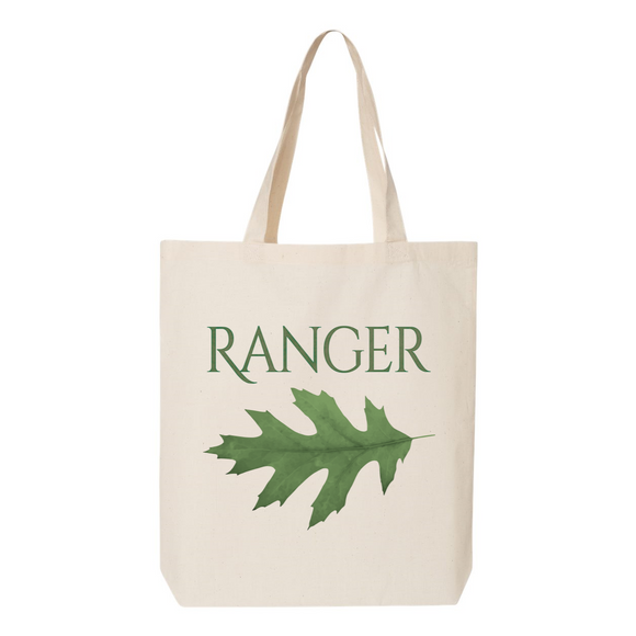 Ranger Oak Leaf Canvas Tote Bag