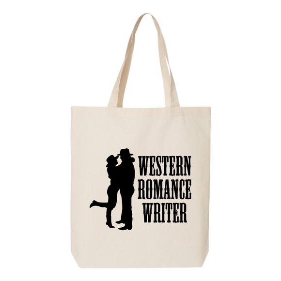 Western Romance Writer Canvas Tote Bag