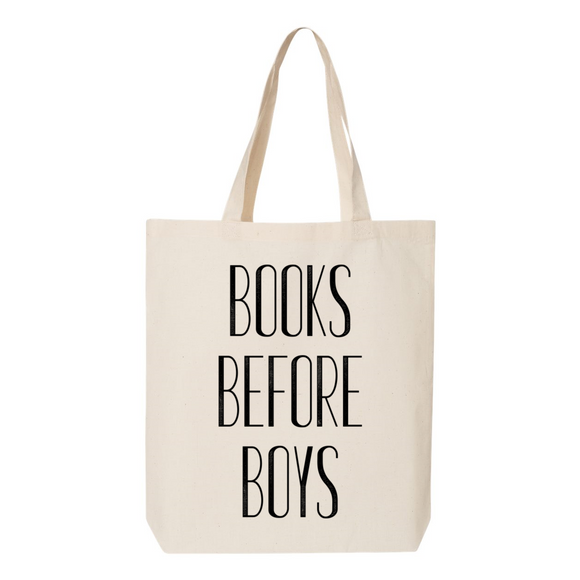 Books Before Boys Canvas Tote Bag