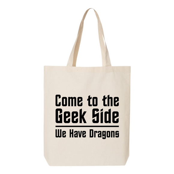 Geek Side Canvas Tote Bag