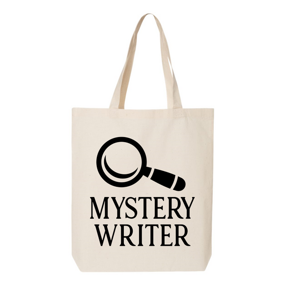 Mystery Writer Canvas Tote Bag