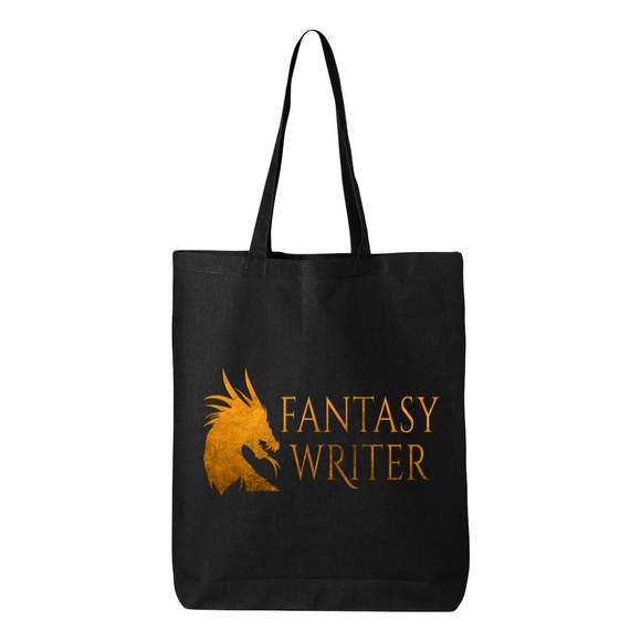 Dragon Fantasy Writer Canvas Tote Bag