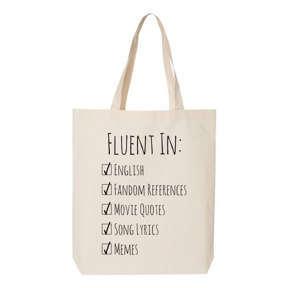 Fluent In Geek Canvas Tote Bag