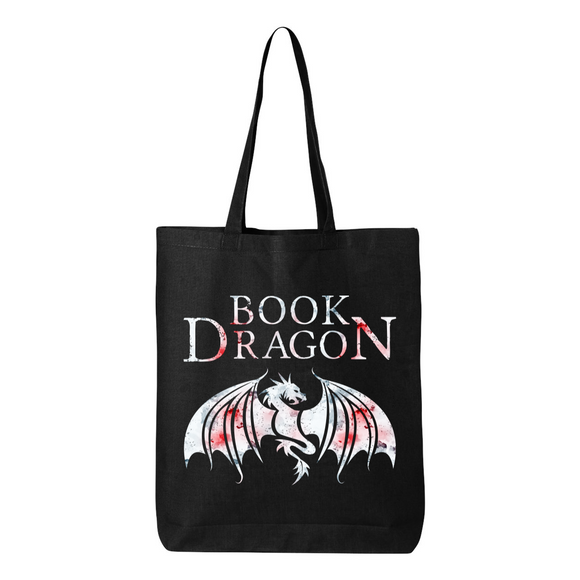 Book Dragon Canvas Tote Bag