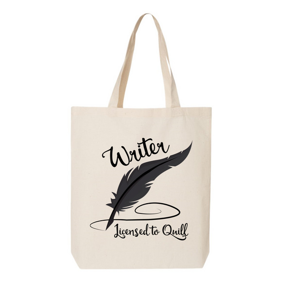 Writer Licensed to Quill Canvas Tote Bag