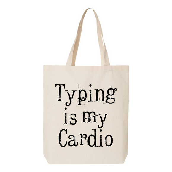 Typing Is My Cardio Canvas Tote Bag