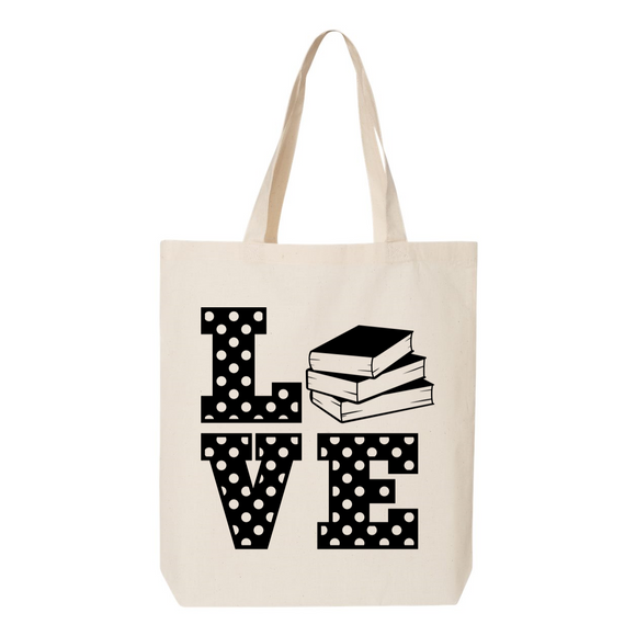 Book Love Canvas Tote Bag