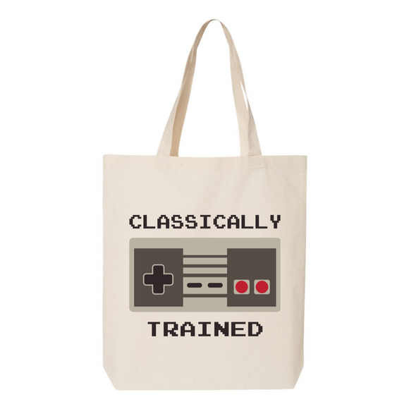 Classically Trained Gamer Canvas Tote Bag