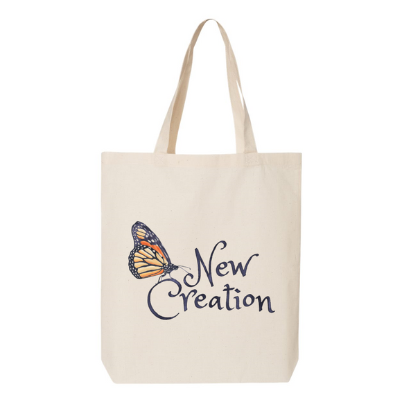 New Creation Butterfly Canvas Tote Bag