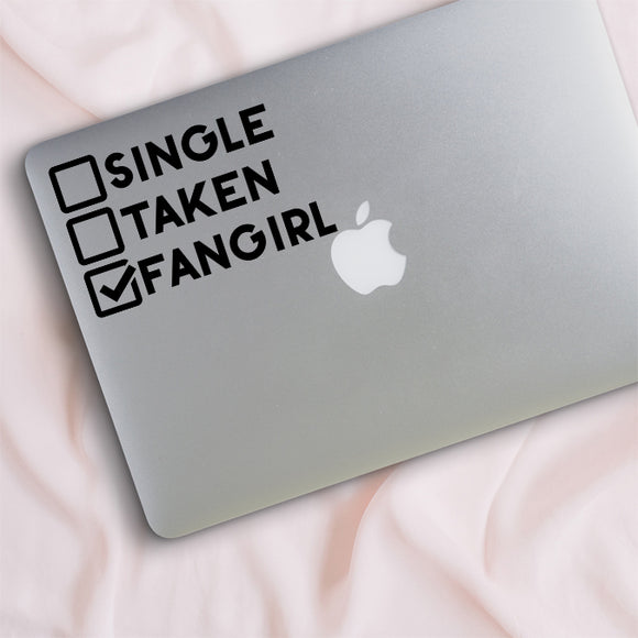 Single Taken Fangirl Decal