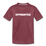 Apprentice Toddler Shirt - heather burgundy