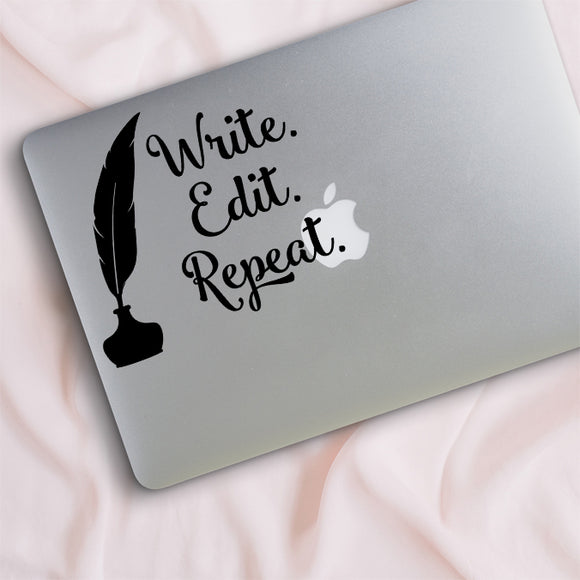 Write. Edit. Repeat. Decal