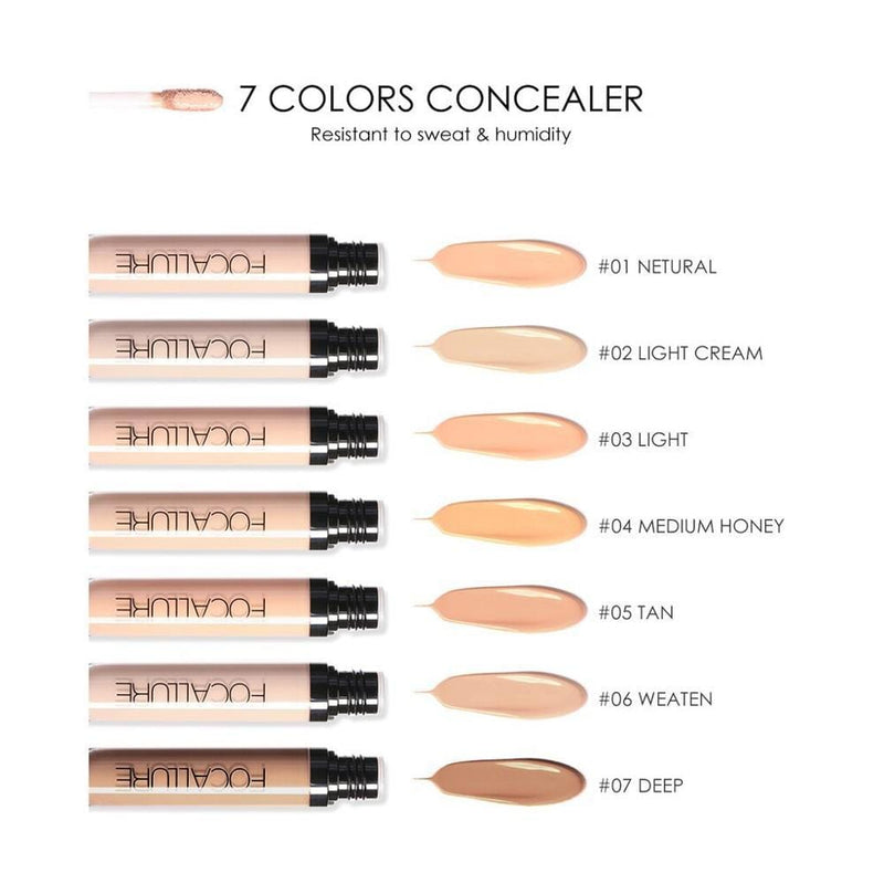 FOCALLURE Full Coverage Makeup Liquid Concealer Convenient Eye Concealer Cream Waterproof Make Up Base Cosmetic Concealer
