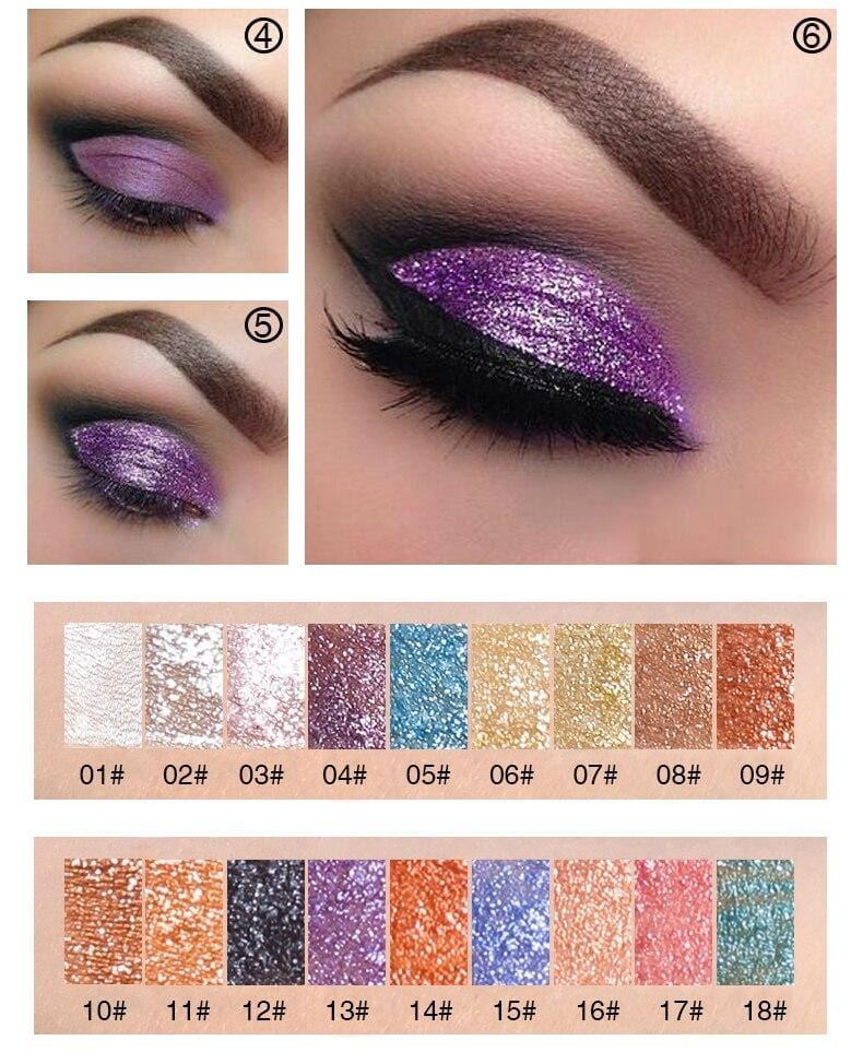 Shimmer Eye Shadow Pallete in 18 Colors