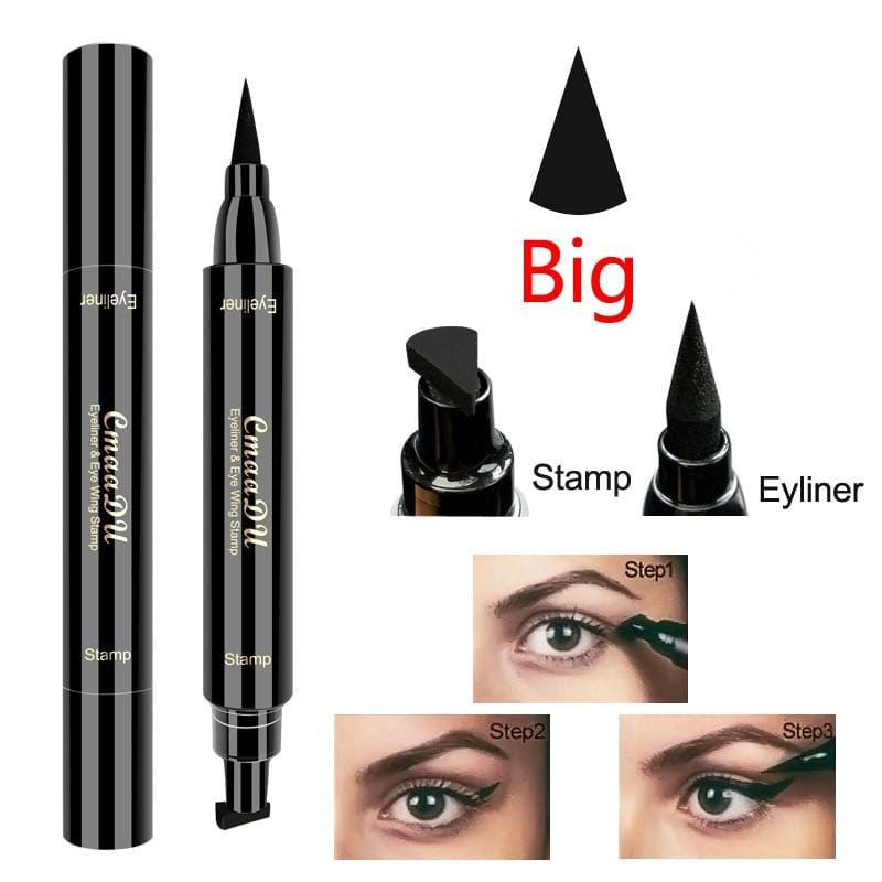 Liquid Eyeliner Pencil With Double-headed Stamps