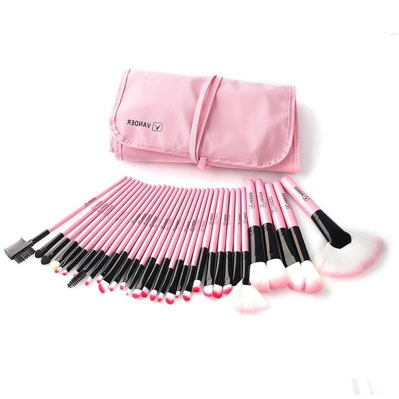 32Pcs Professional Makeup Brush Set With Bag