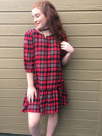 Checkered Cozy Dress